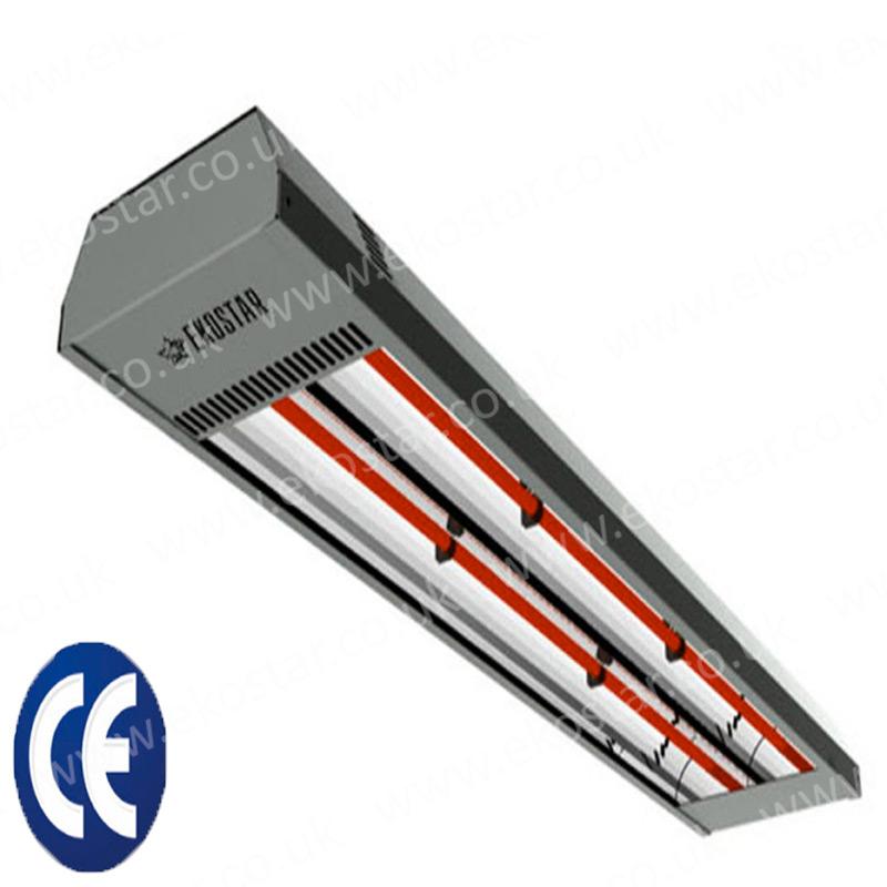 Energy efficient Infrared heater PRO 2500 + wall bracket