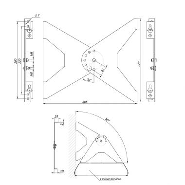 Energy efficient Infrared heater PRO 2500 + wall bracket